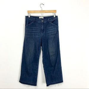 J.Jill Full-Leg Crop Jeans Raw Hem Wide 10 C0